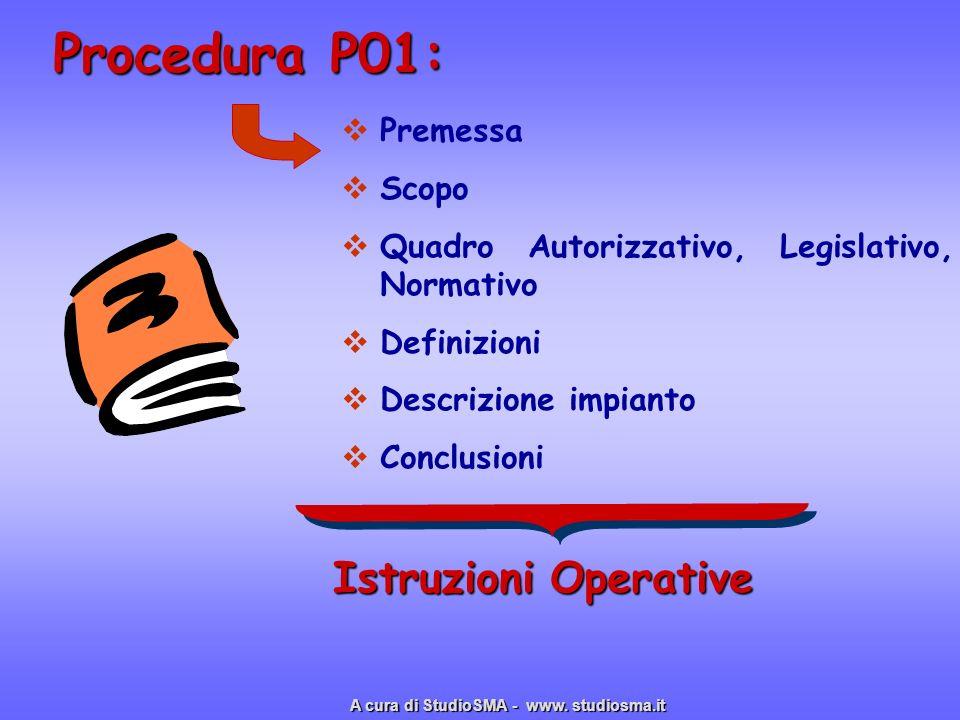 Procedura P01: Istruzioni Operative Premessa Scopo