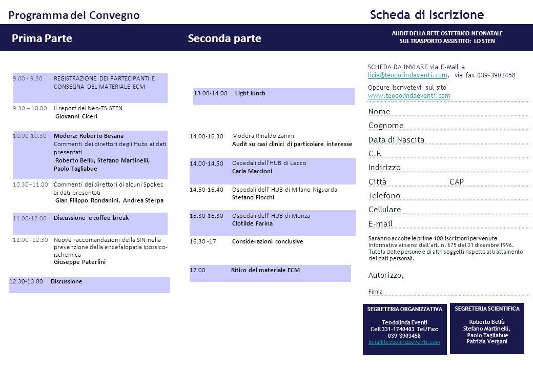 Programma del Convegno Scheda di Iscrizione
