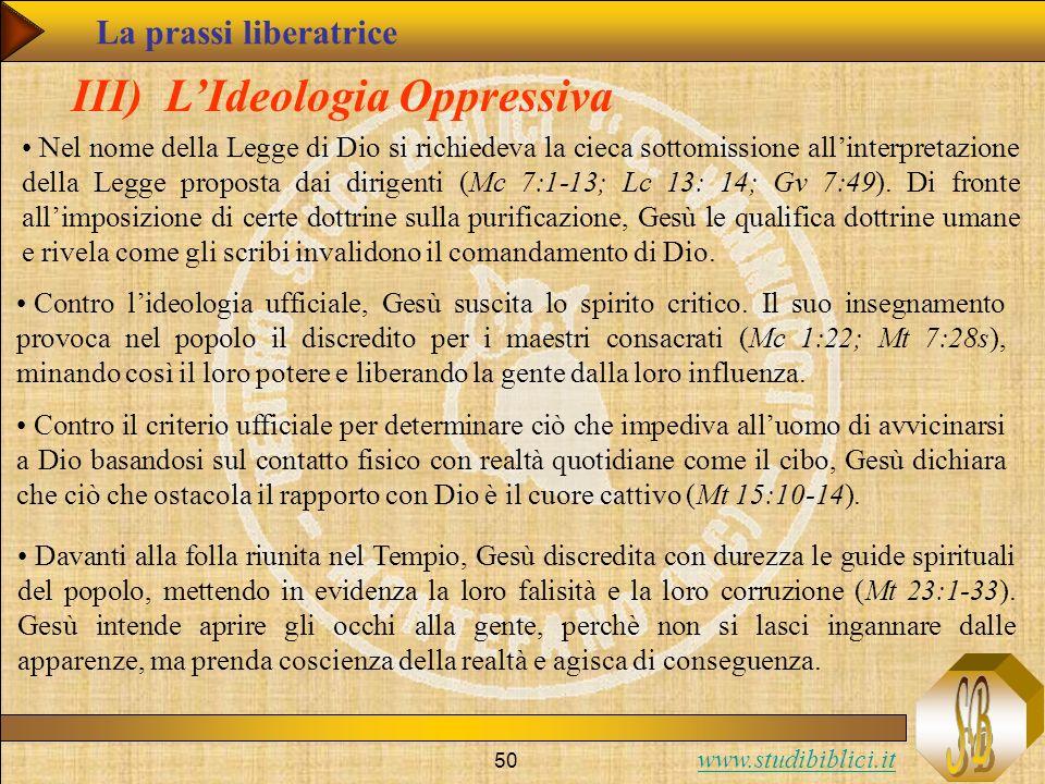 III) L'Ideologia Oppressiva