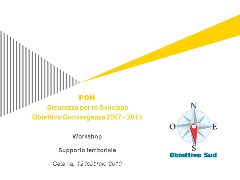 Workshop Supporto territoriale Catania, 12 febbraio 2010