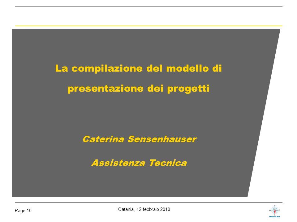 La compilazione del modello di presentazione dei progetti