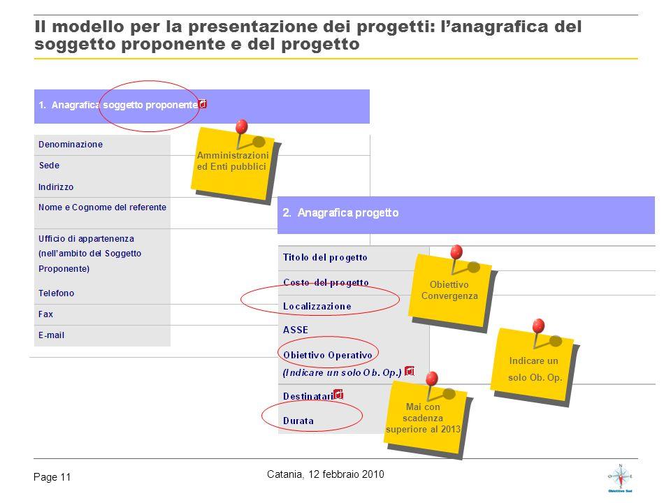 Obiettivo Convergenza Mai con scadenza superiore al 2013