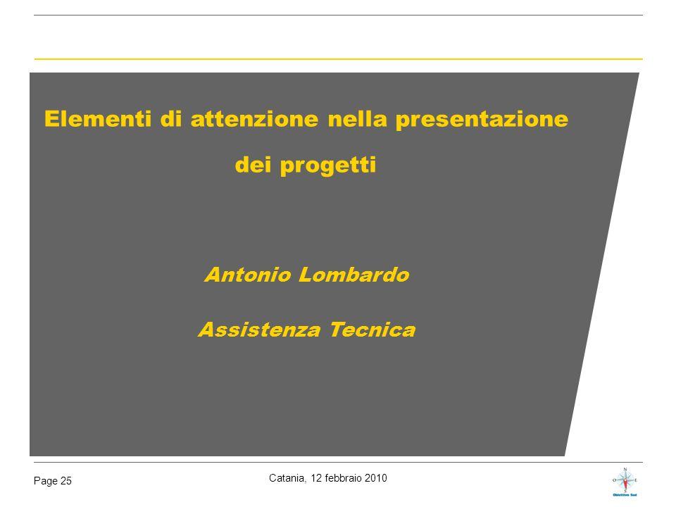 Elementi di attenzione nella presentazione dei progetti