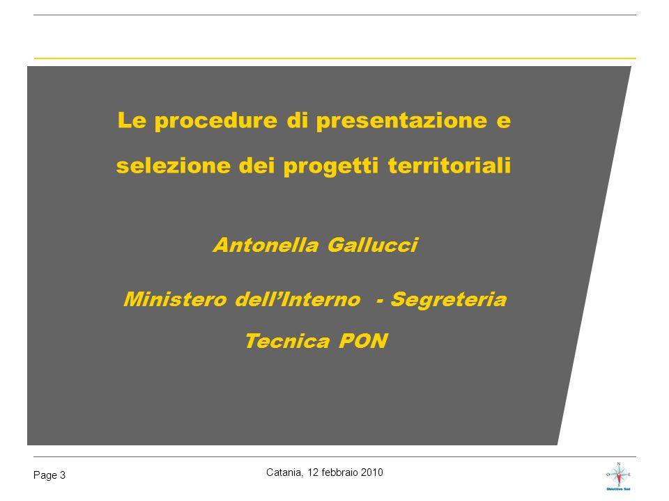 Le procedure di presentazione e selezione dei progetti territoriali