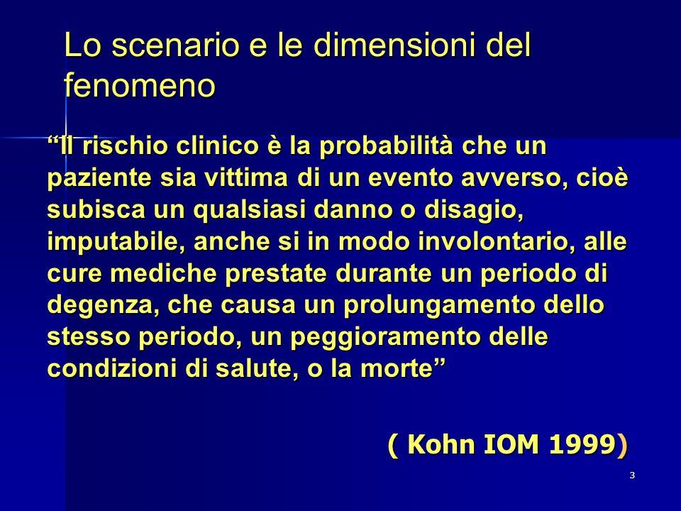 Lo scenario e le dimensioni del fenomeno