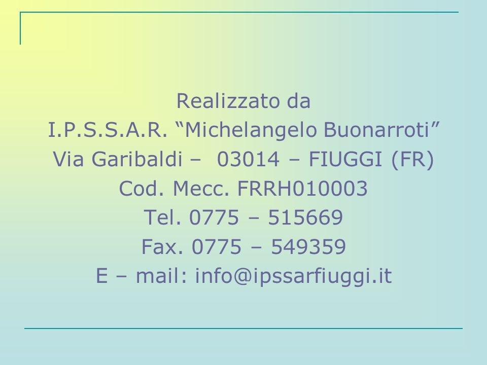 I.P.S.S.A.R. Michelangelo Buonarroti