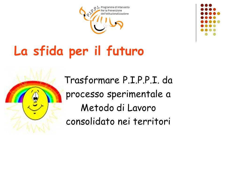 La sfida per il futuro Trasformare P.I.P.P.I. da