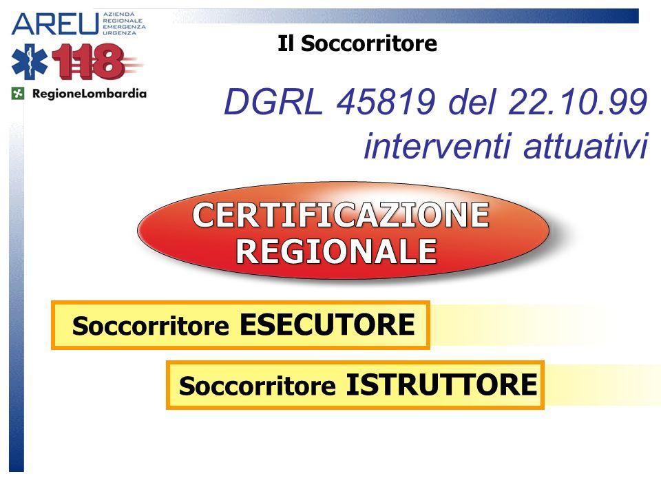 DGRL 45819 del 22.10.99 interventi attuativi