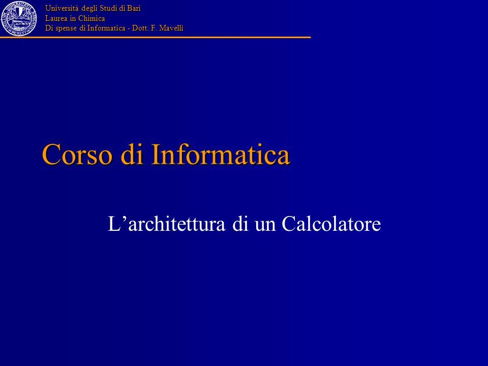 L'architettura di un Calcolatore