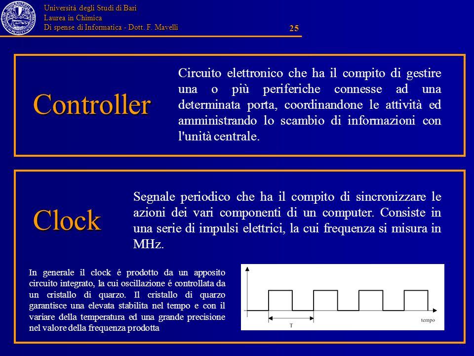 Circuito elettronico che ha il compito di gestire una o più periferiche connesse ad una determinata porta, coordinandone le attività ed amministrando lo scambio di informazioni con l unità centrale.