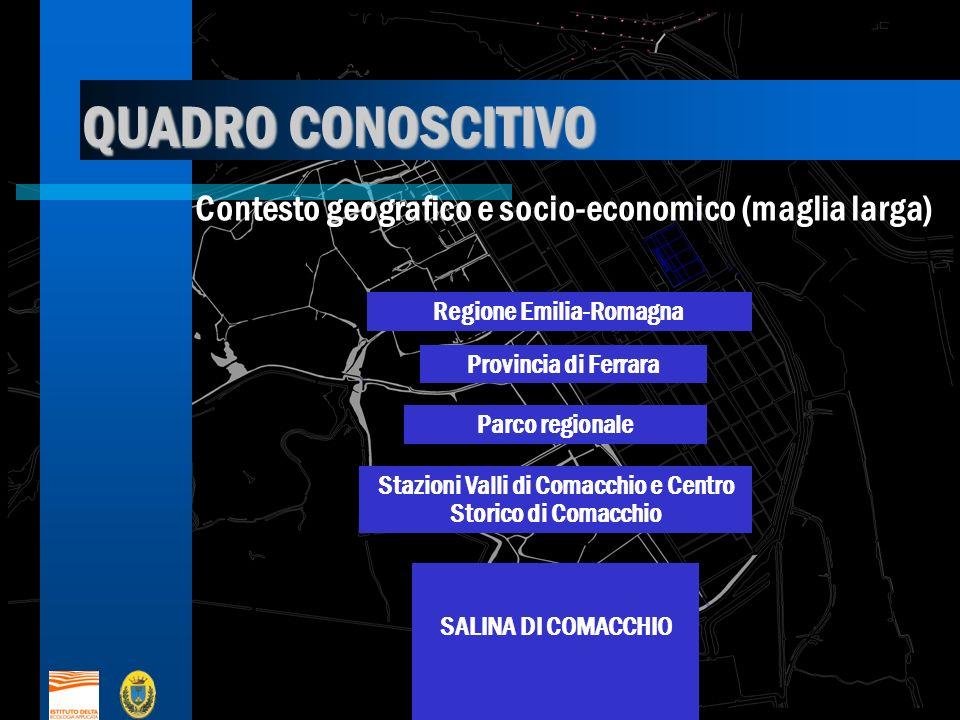 QUADRO CONOSCITIVO Contesto geografico e socio-economico (maglia larga) Regione Emilia-Romagna. Provincia di Ferrara.