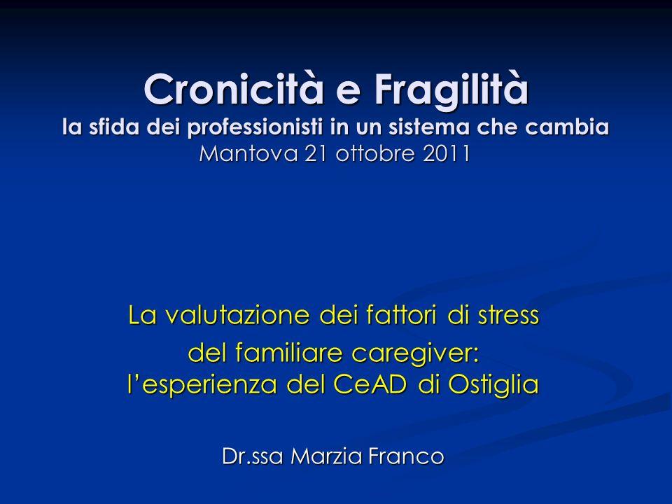 Cronicità e Fragilità la sfida dei professionisti in un sistema che cambia Mantova 21 ottobre 2011
