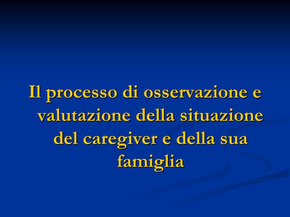 Il processo di osservazione e valutazione della situazione del caregiver e della sua famiglia