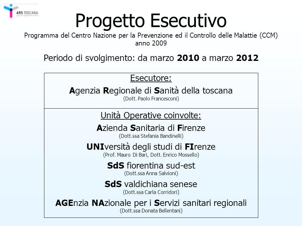 Progetto Esecutivo Programma del Centro Nazione per la Prevenzione ed il Controllo delle Malattie (CCM) anno 2009