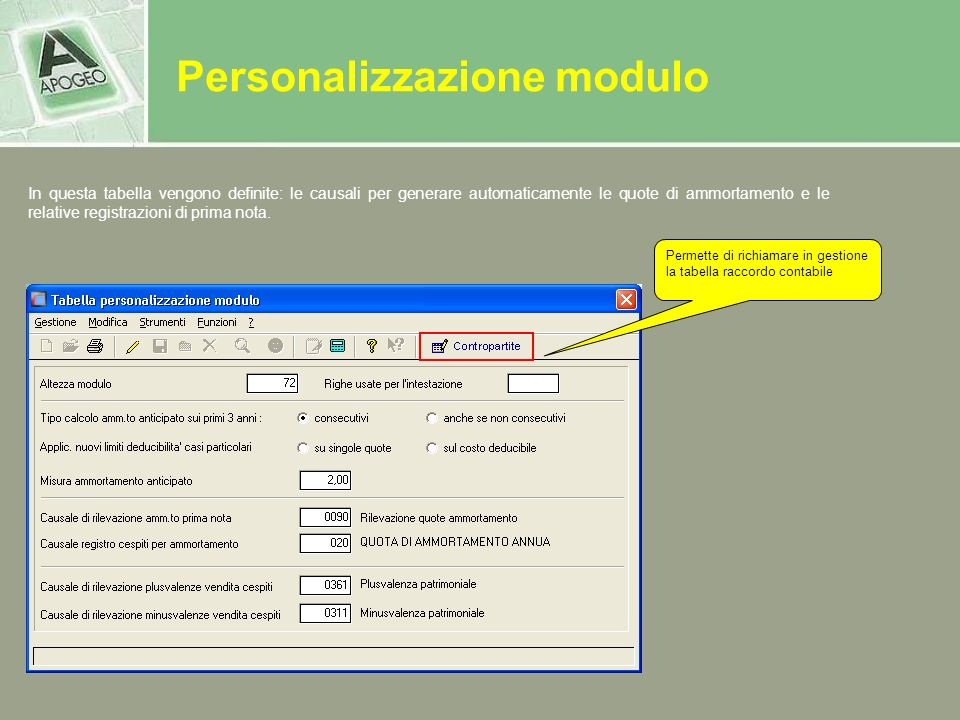 Personalizzazione modulo