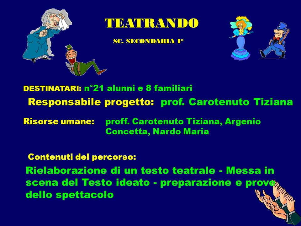 TEATRANDO prof. Carotenuto Tiziana