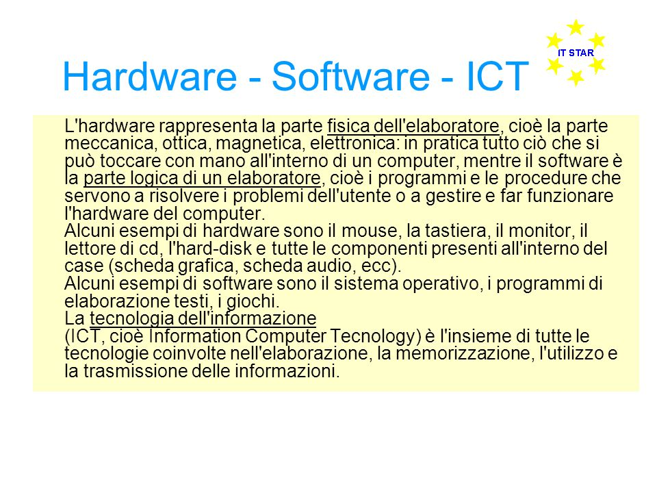 Hardware - Software - ICT