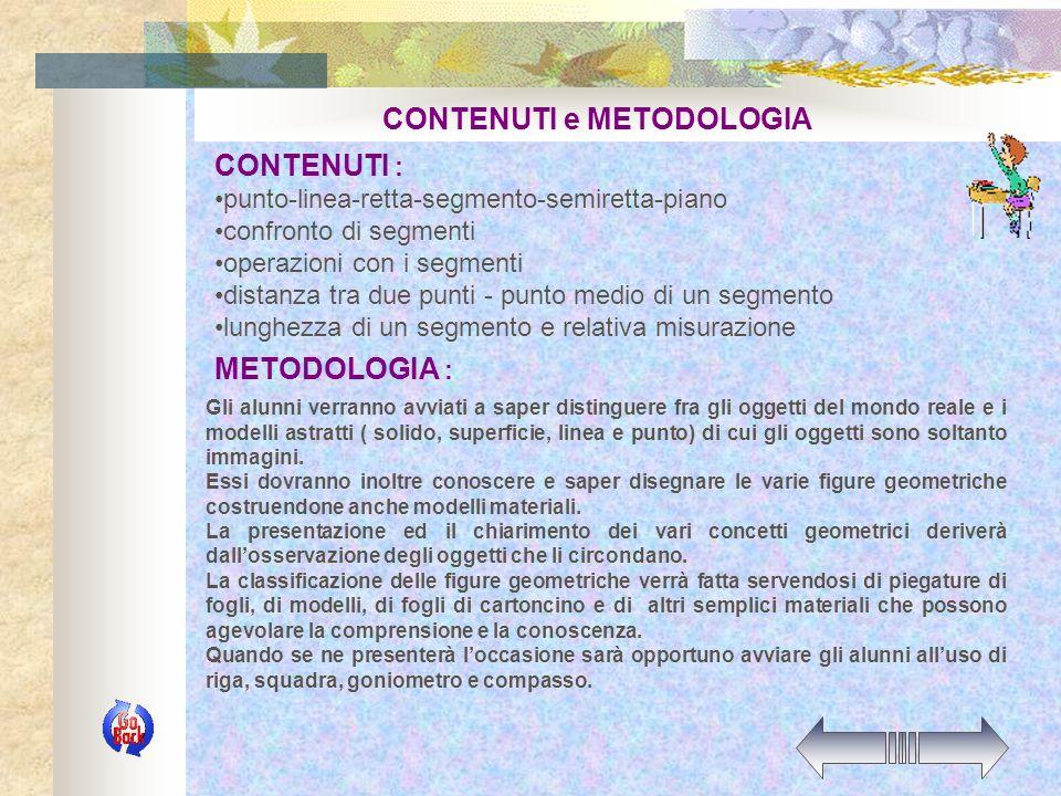 CONTENUTI e METODOLOGIA