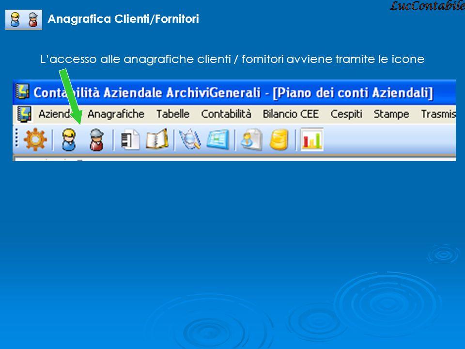 LucContabile Anagrafica Clienti/Fornitori