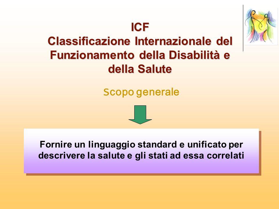 ICF Classificazione Internazionale del Funzionamento della Disabilità e della Salute. Scopo generale.