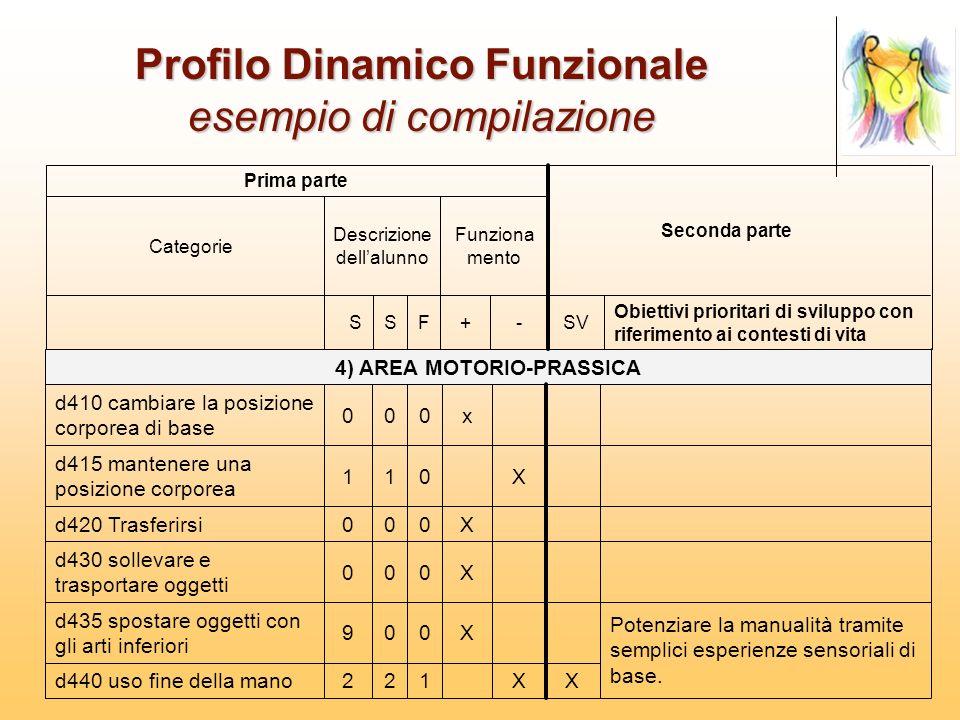 Profilo Dinamico Funzionale esempio di compilazione