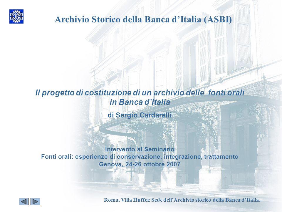 Archivio Storico della Banca d'Italia (ASBI)