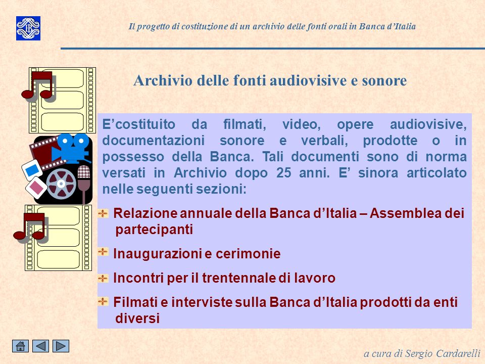 Archivio delle fonti audiovisive e sonore