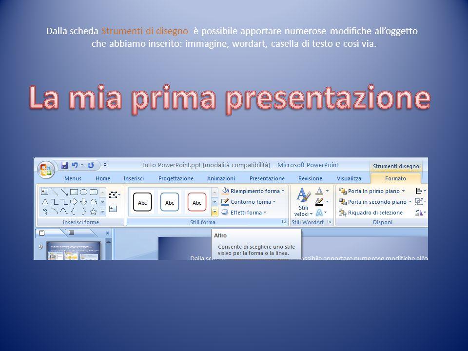 La mia prima presentazione
