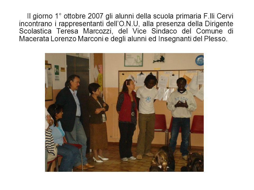 Il giorno 1° ottobre 2007 gli alunni della scuola primaria F