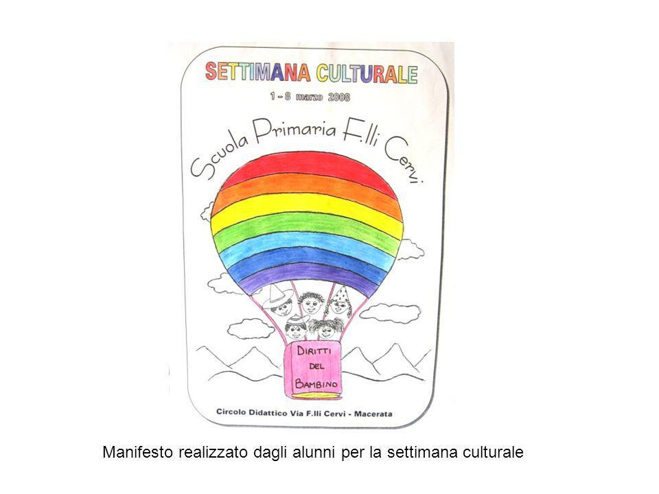 Manifesto realizzato dagli alunni per la settimana culturale