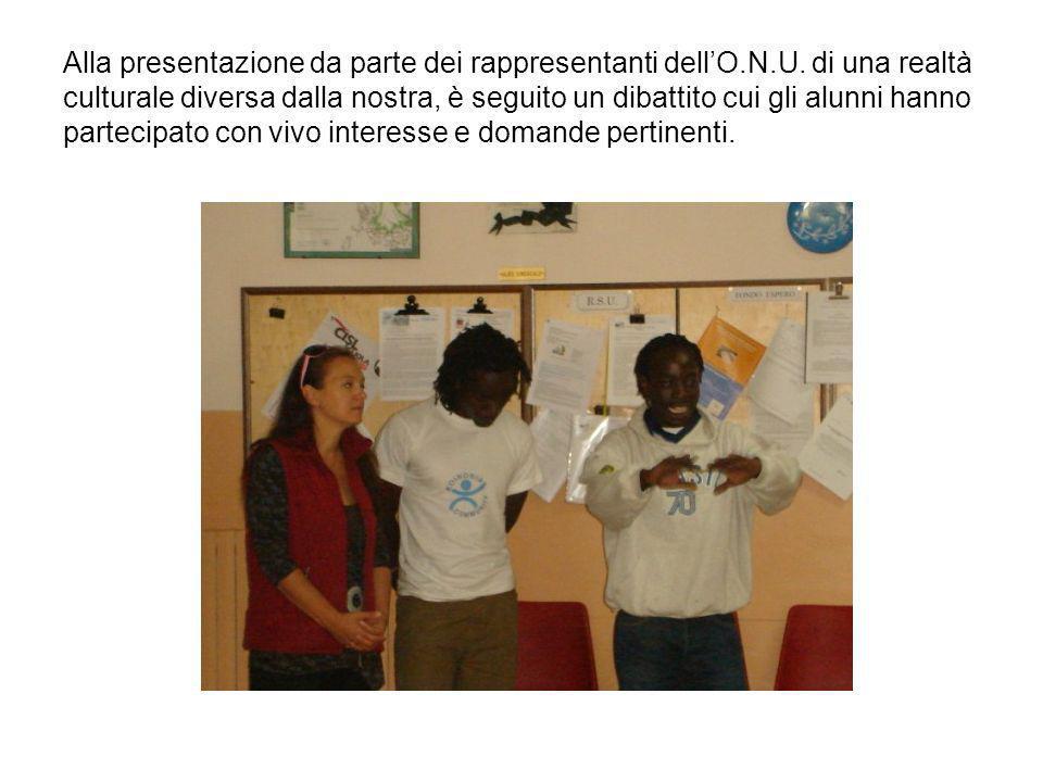 Alla presentazione da parte dei rappresentanti dell'O. N. U