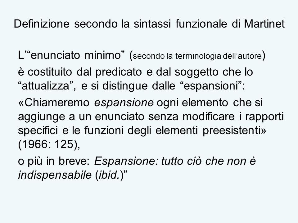 Definizione secondo la sintassi funzionale di Martinet