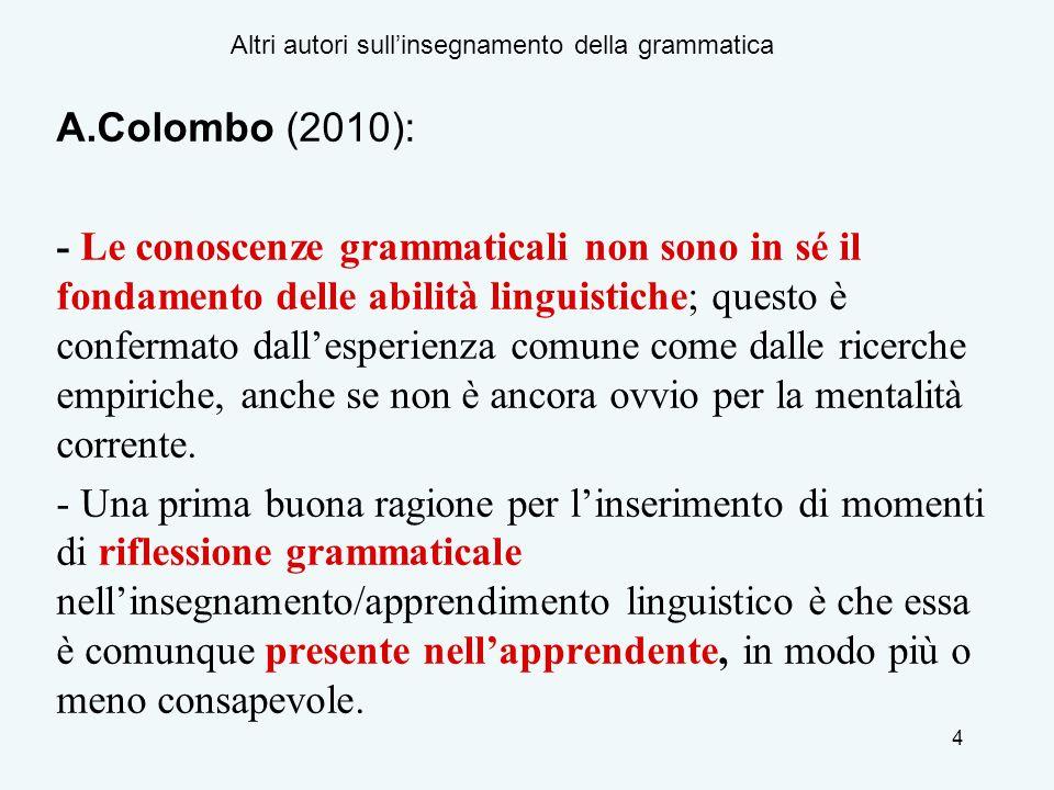 Altri autori sull'insegnamento della grammatica