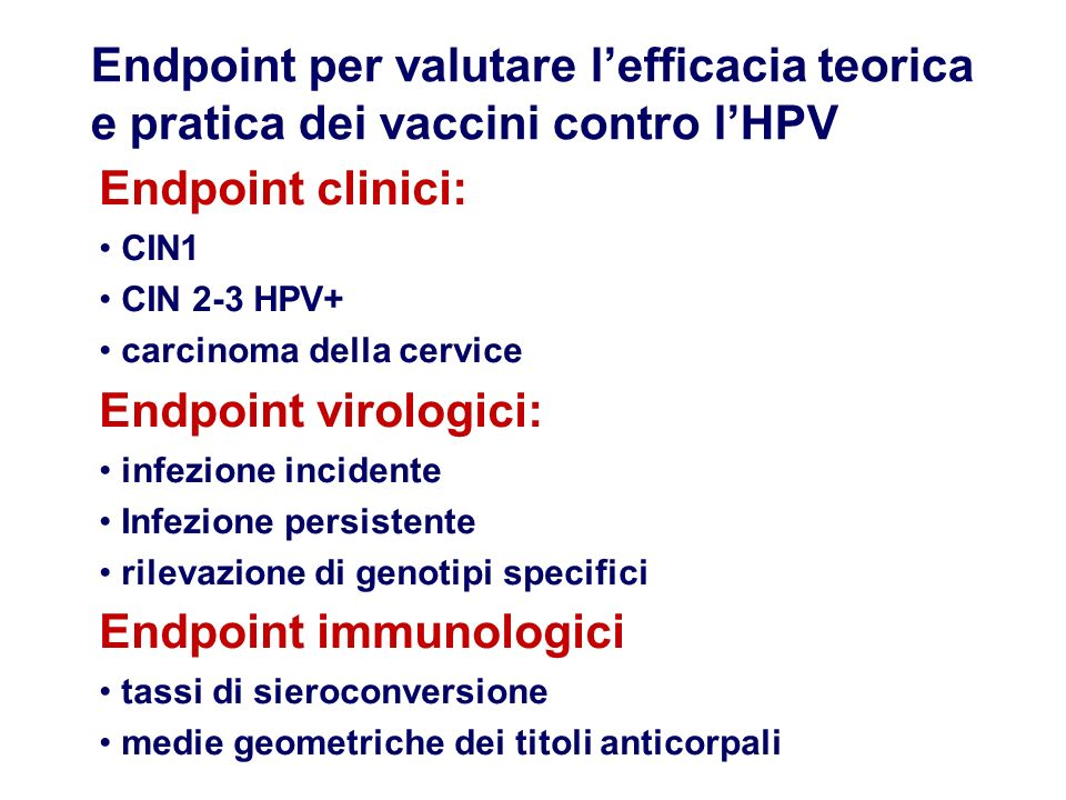 Endpoint immunologici