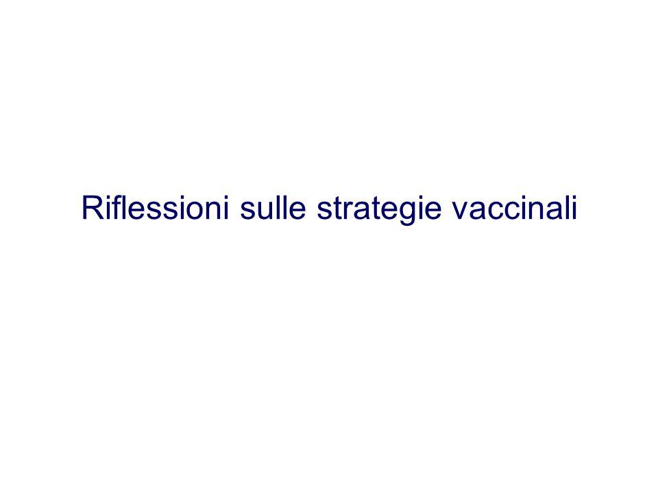 Riflessioni sulle strategie vaccinali