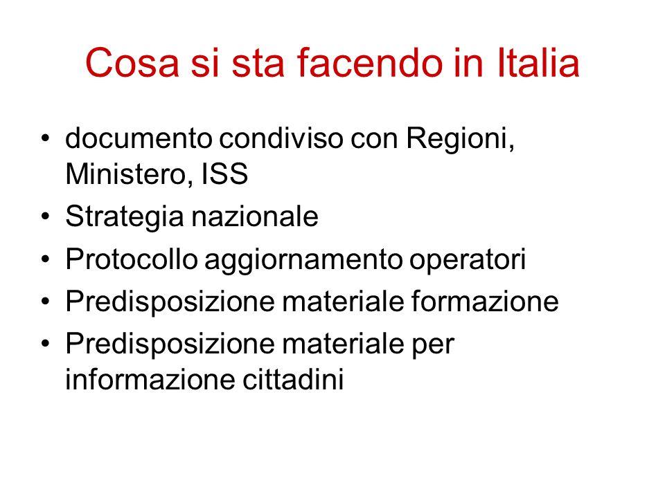 Cosa si sta facendo in Italia