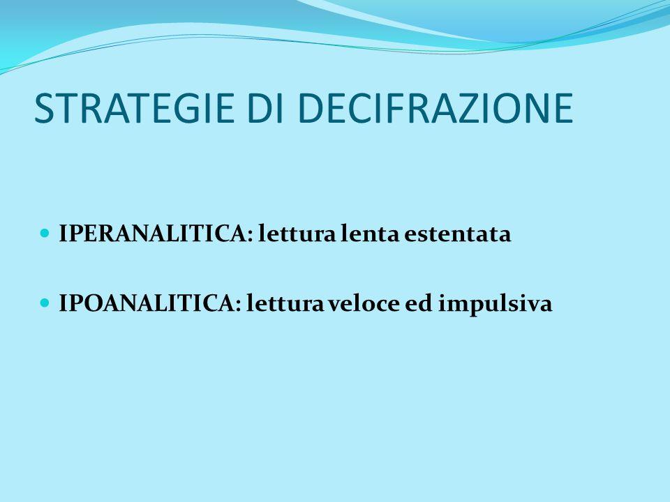 STRATEGIE DI DECIFRAZIONE
