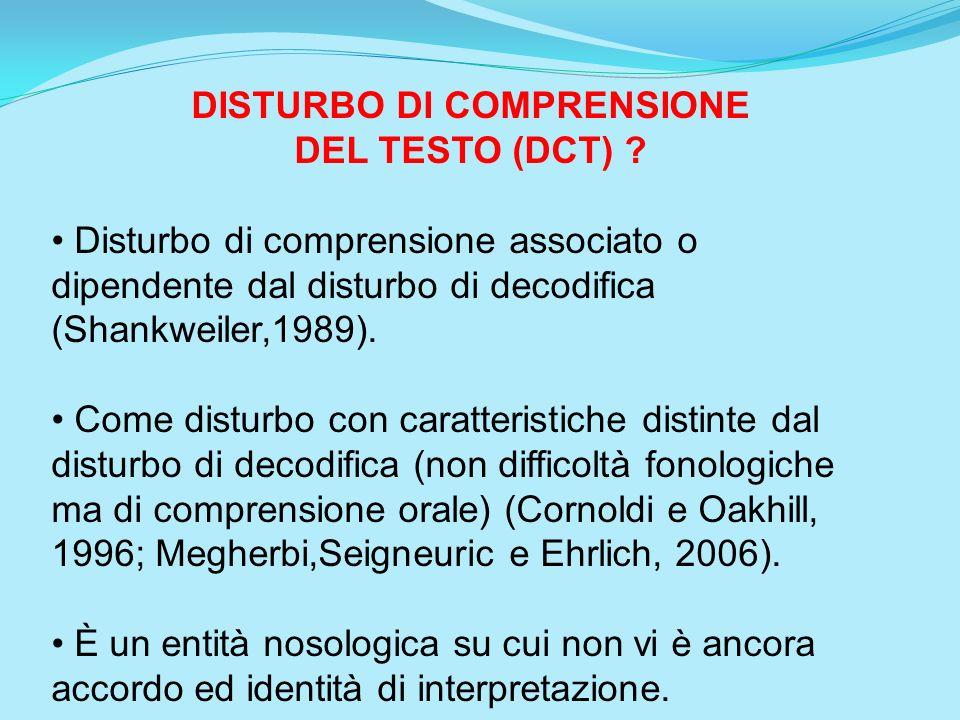 DISTURBO DI COMPRENSIONE