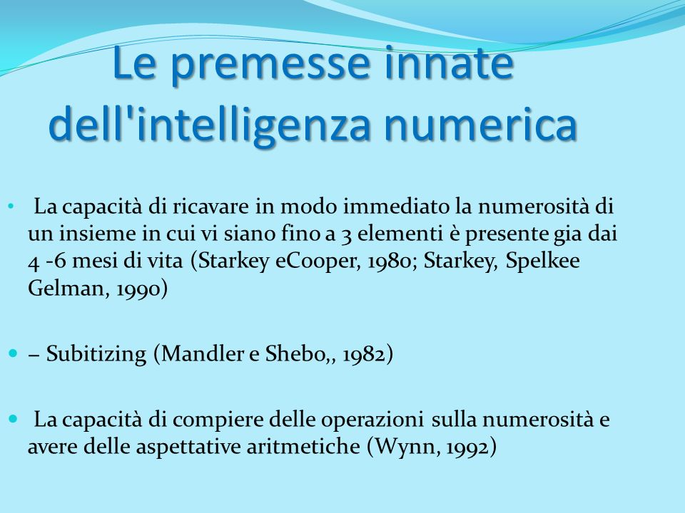 dell intelligenza numerica