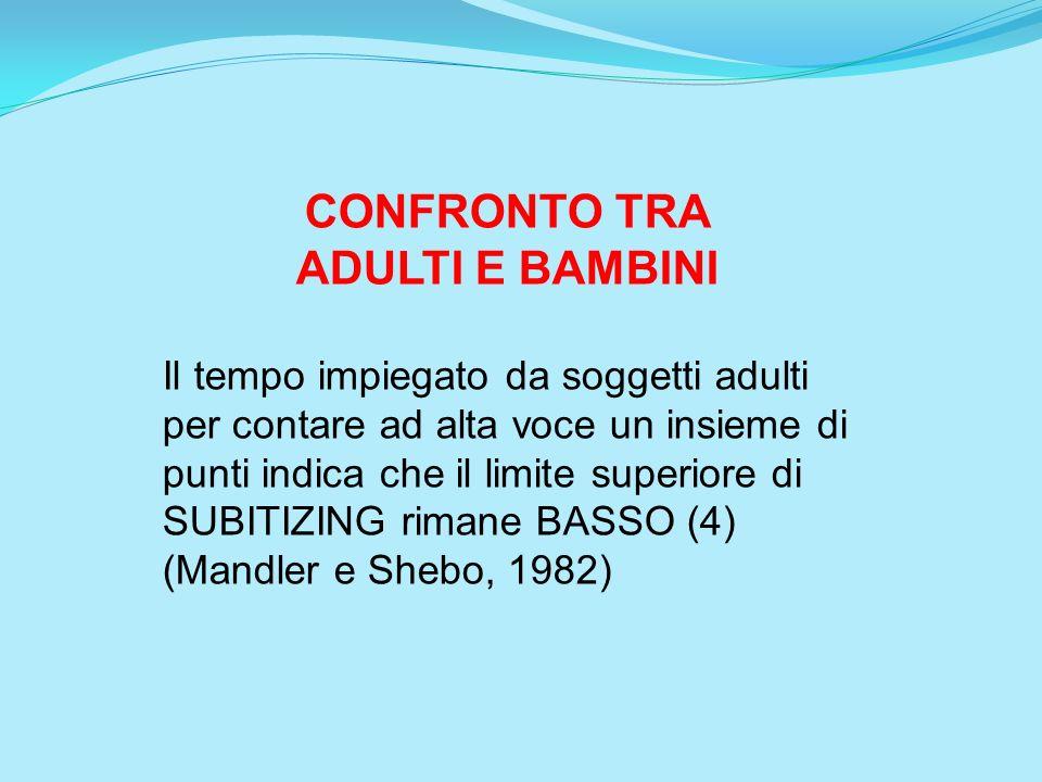 CONFRONTO TRA ADULTI E BAMBINI