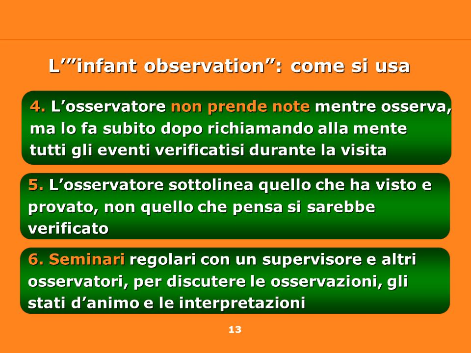 L' infant observation : come si usa