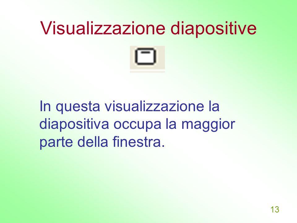 Visualizzazione diapositive