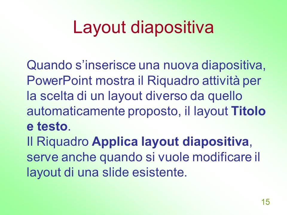 Layout diapositiva