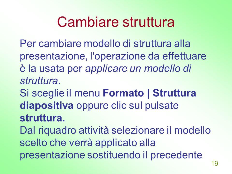 Cambiare struttura