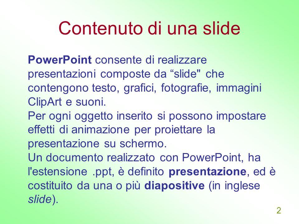 Contenuto di una slide