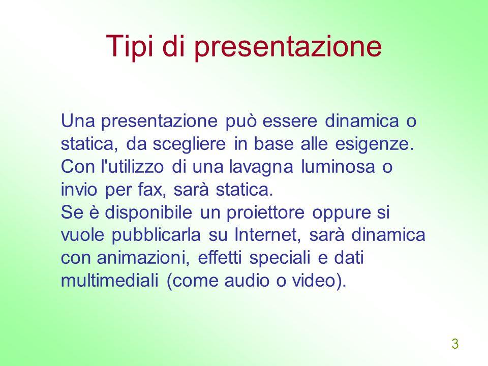 Tipi di presentazione