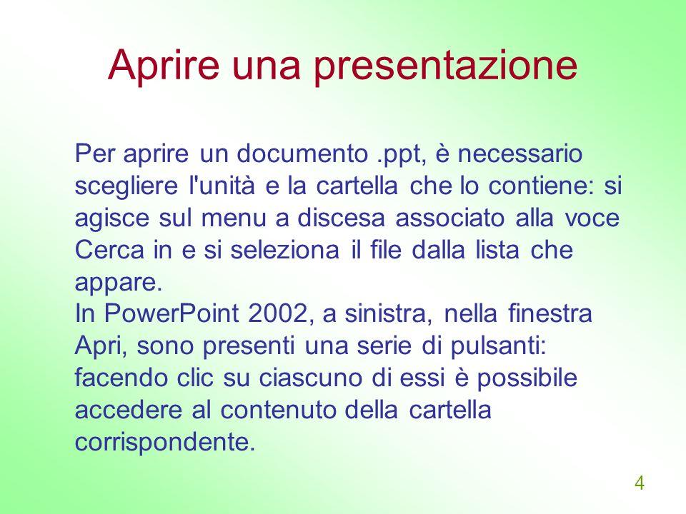 Aprire una presentazione