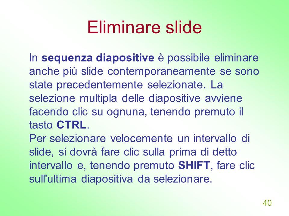 Eliminare slide