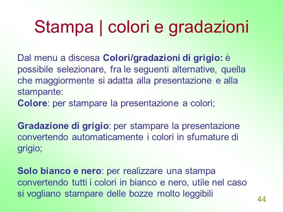 Stampa | colori e gradazioni