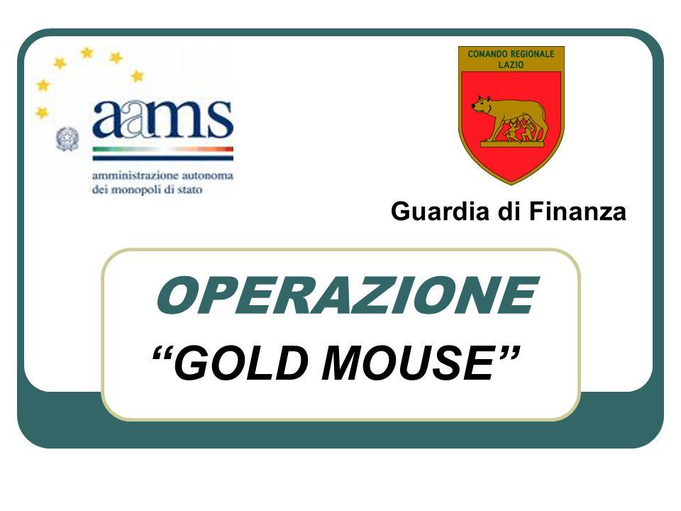Guardia di Finanza OPERAZIONE GOLD MOUSE